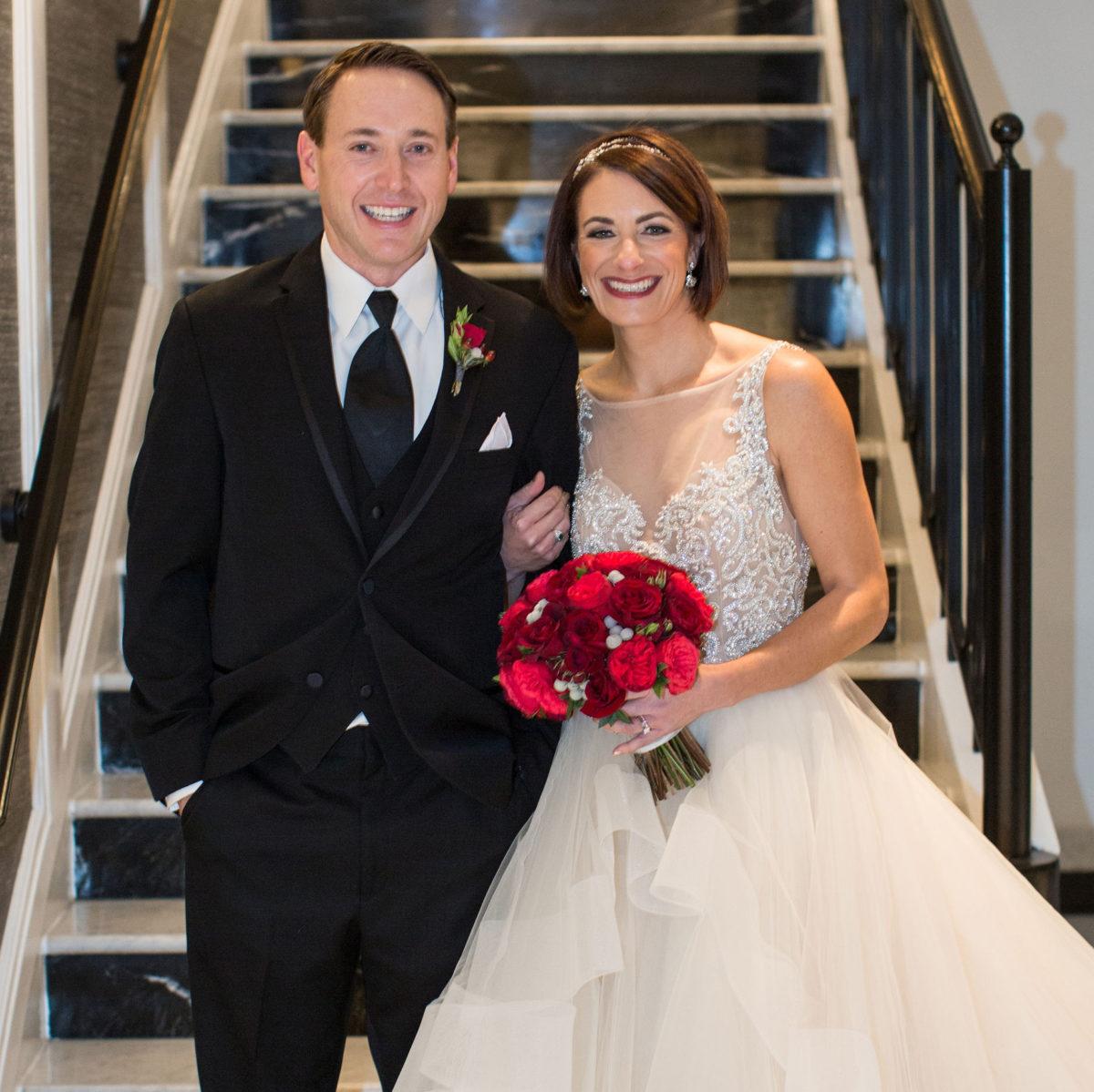 Alicia Kieninger, '01 MD, with husband, Mark Mantay, '00 JD