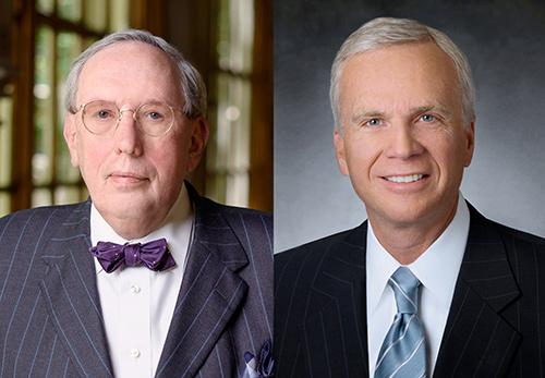 Side by side headshots: Left - Eric G. Neilson, MD; Right - Dean M. Harrison.