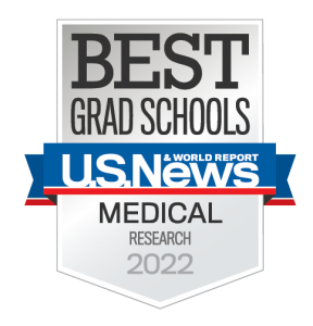 US News and World Report badge for 2022 Best Grad Schools, research-oriented medical schools.