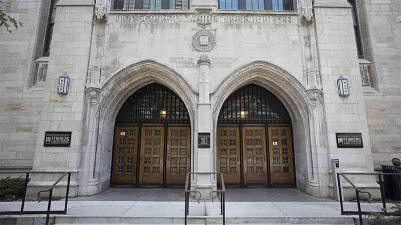 Exterior doors of the Ward building.